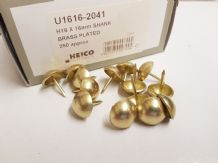 250 Brass plated 16mm upholstery nails large tacks Heico H16 furniture studs